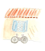 Bicycle in Provence Watercolor Image