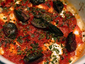 Goat Cheese with Tomato Sauce
