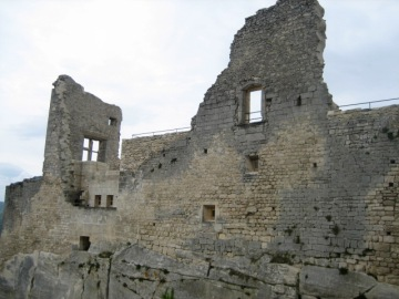 remains of de Sade's castle in Lacoste