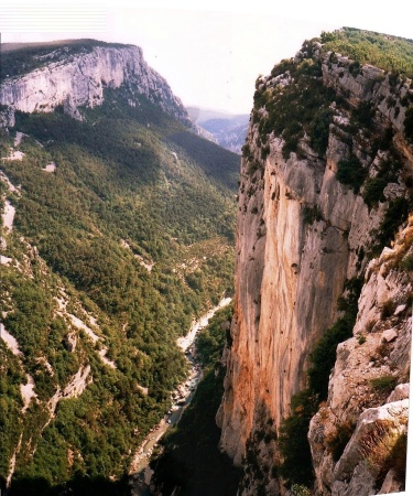 gorge du verdon cliff