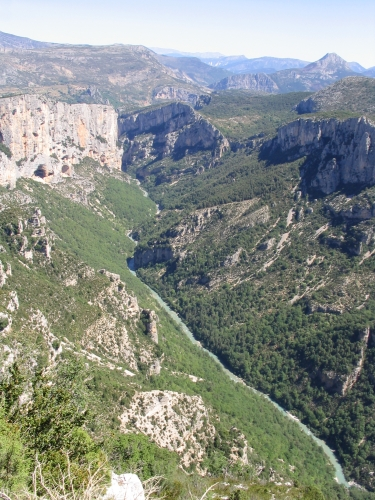 Gorges du Verdon, Provence, South France, view from north rim